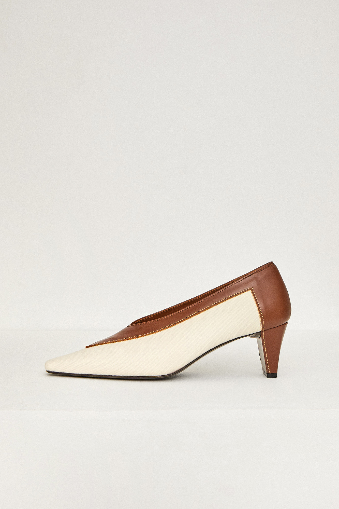 19FW COLOR BLOCK SHOES - BROWN
