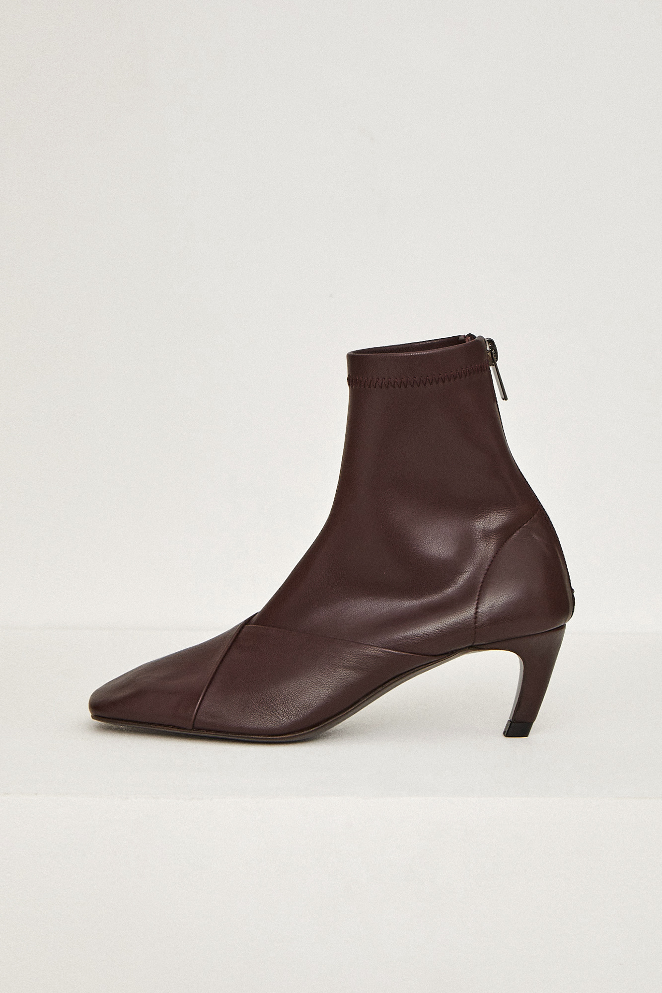 19FW SQUARE BOOTS - BURGUNDY