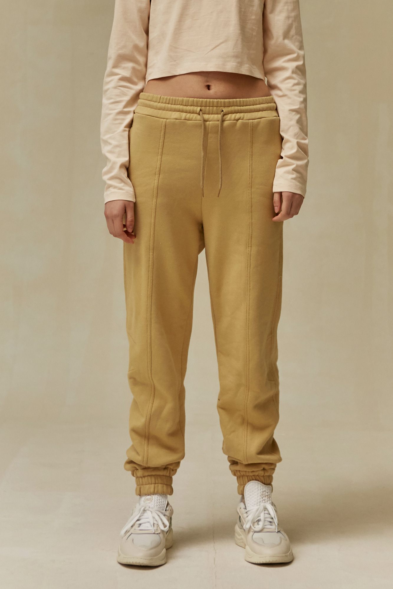 19 WINTER LOCLE JOGGER PANTS - YELLOW