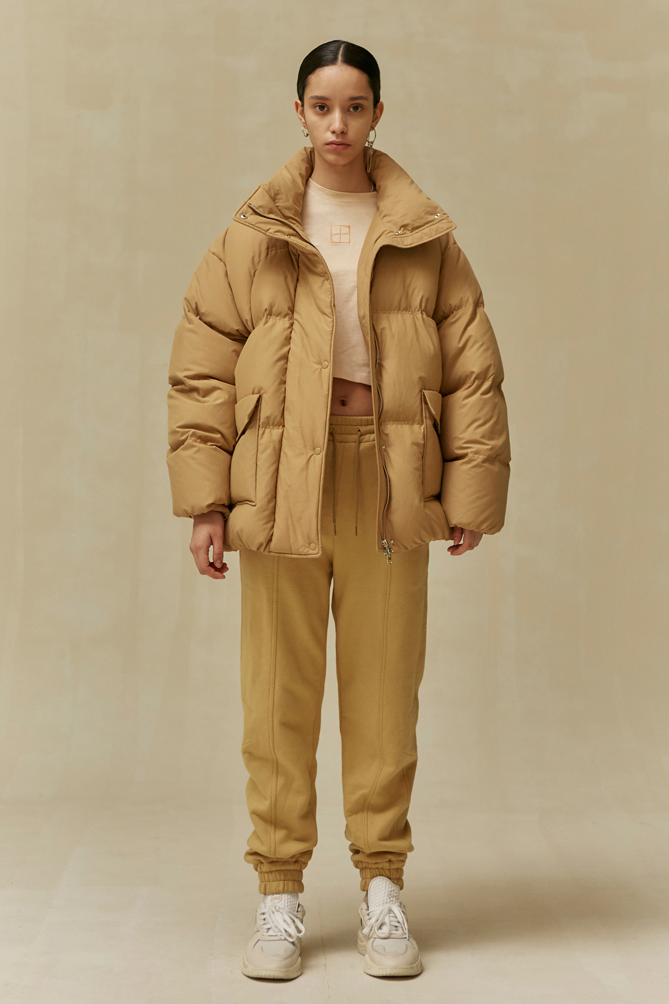 19 WINTER LOCLE OVER FIT DUCKDOWN JACKET - CAMEL