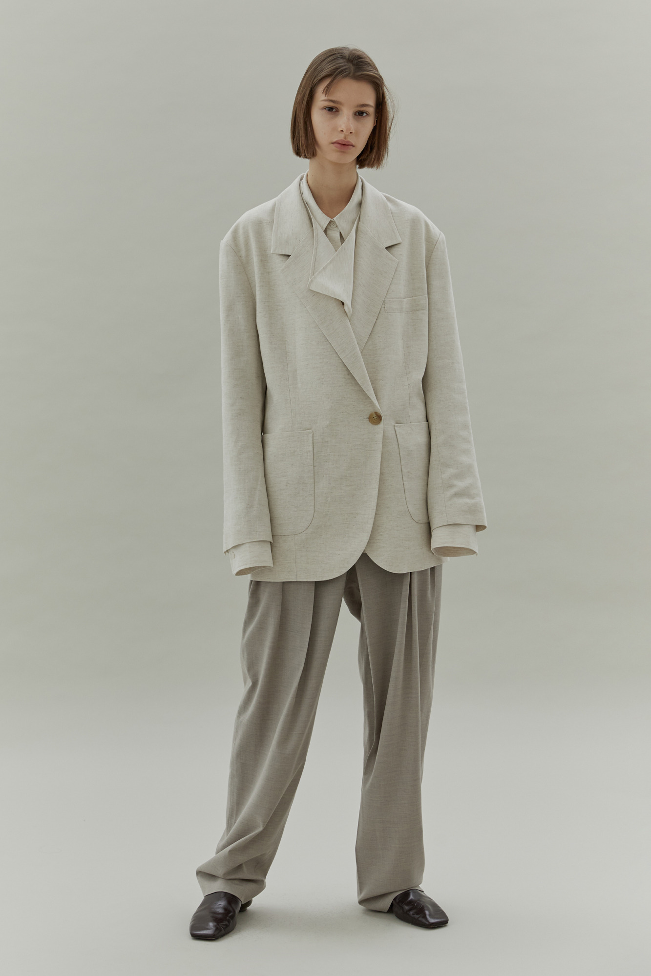 20SS LINEN JACKET - NATURAL