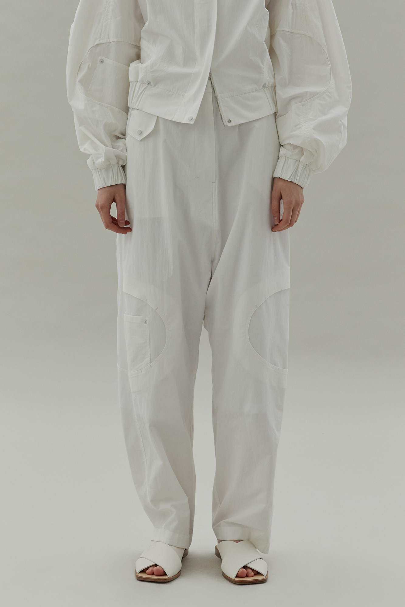 20SS STITCH BANDING PANTS - WHITE